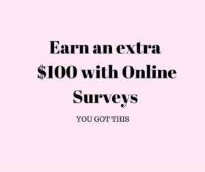 earn an extra $100 with online surveys