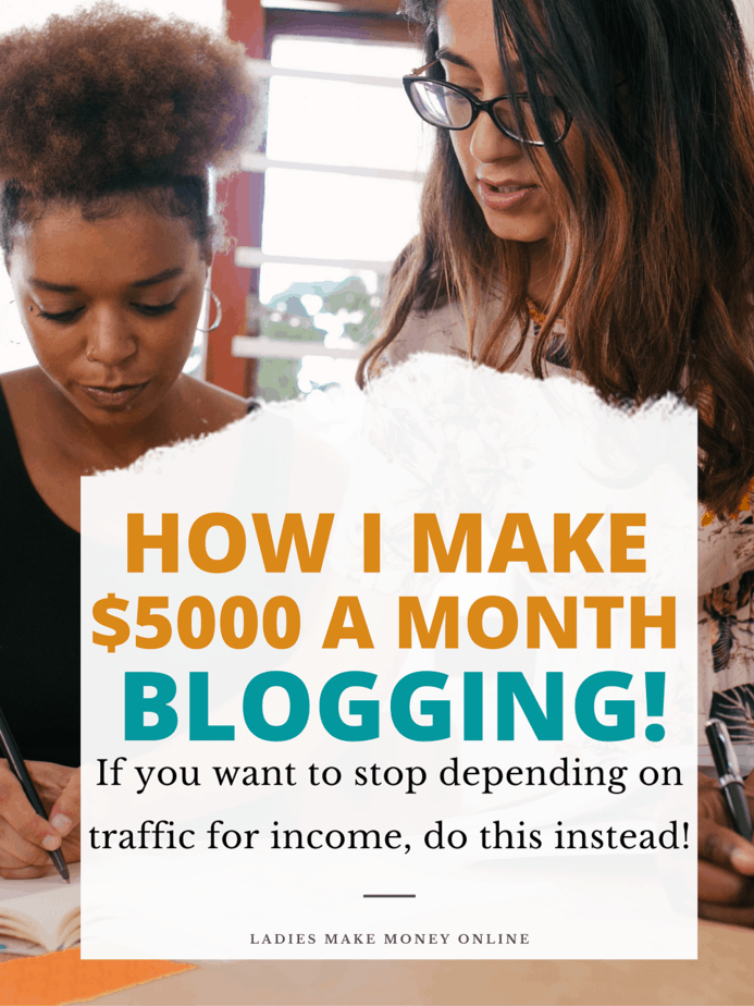 Here is how I make money with a blog even with little blog traffic.