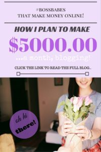 How I plan to make Five Thousand per month blogging