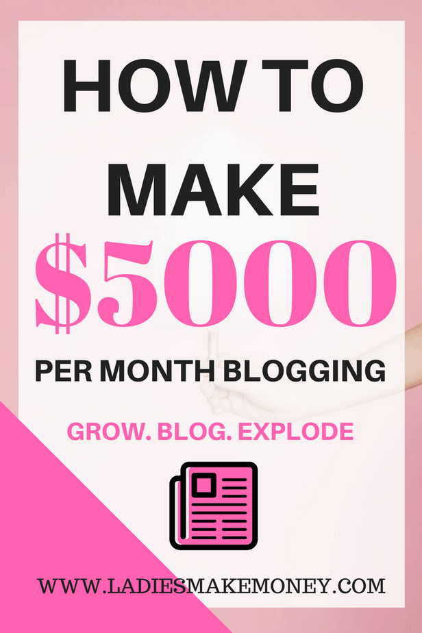 How to make $5000 per month blogging with your blog.,