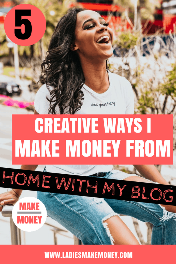 How do bloggers make money? How to earn money as a blogger? Get all your answers in this post. It explains 5 Creative ways bloggers make money online from their beginner blogs and a foolproof list of ideas to make your first blogging income. Learn how to earn real money online from blogging #makemoneyonline #makemoneyblogging #bloggersgetsocial #blogpost #bloggingtips #workfromhome Learn how to make money from home working online. The exact tips to make extra cash fast.