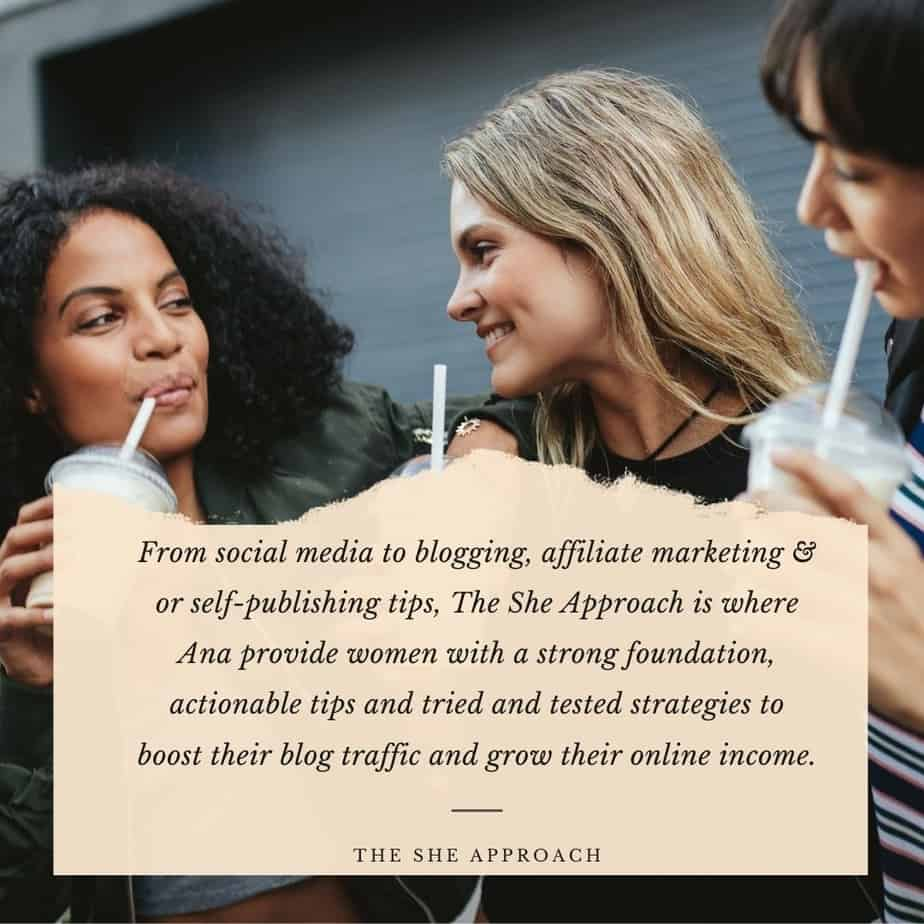 The she approach! Blogging tips for making online! Female Entrepreneur Blogs such as the She Approach will certainly help you take your blog to the next level.