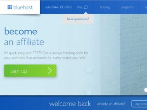 blue host start a blog