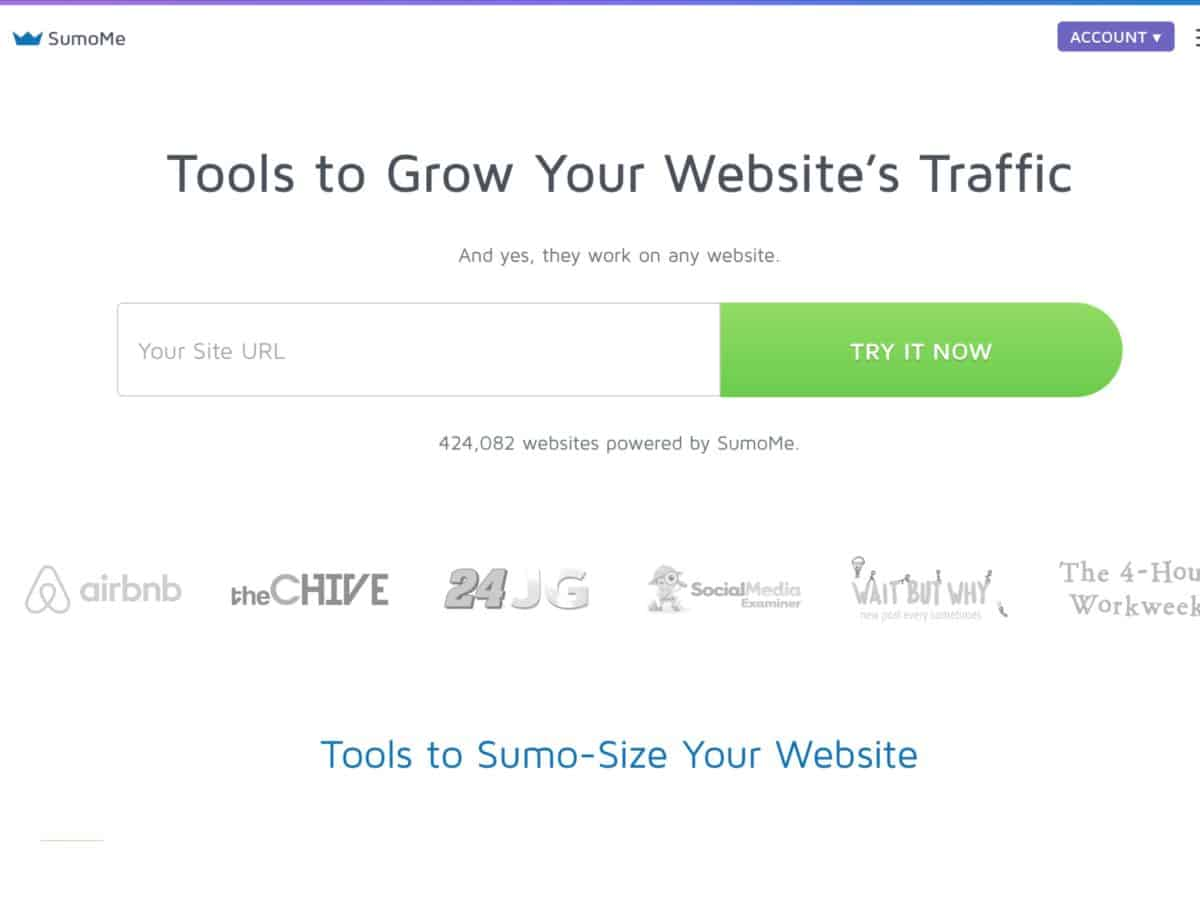 sumome web traffic tool