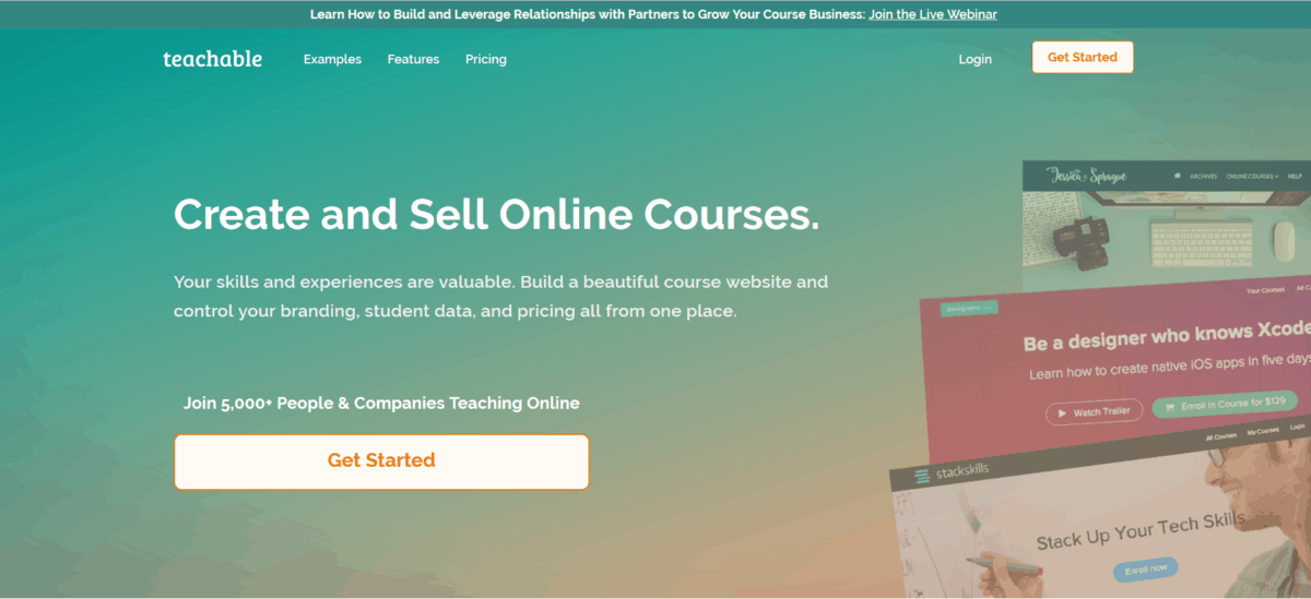 teachable tool. A resource for creating courses for your online business