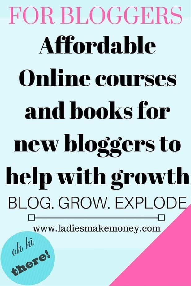 Affordable Online courses and books for new bloggers to help with growth