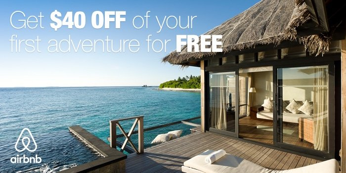 Get $40 credit on your next trip or vacation using airBnB