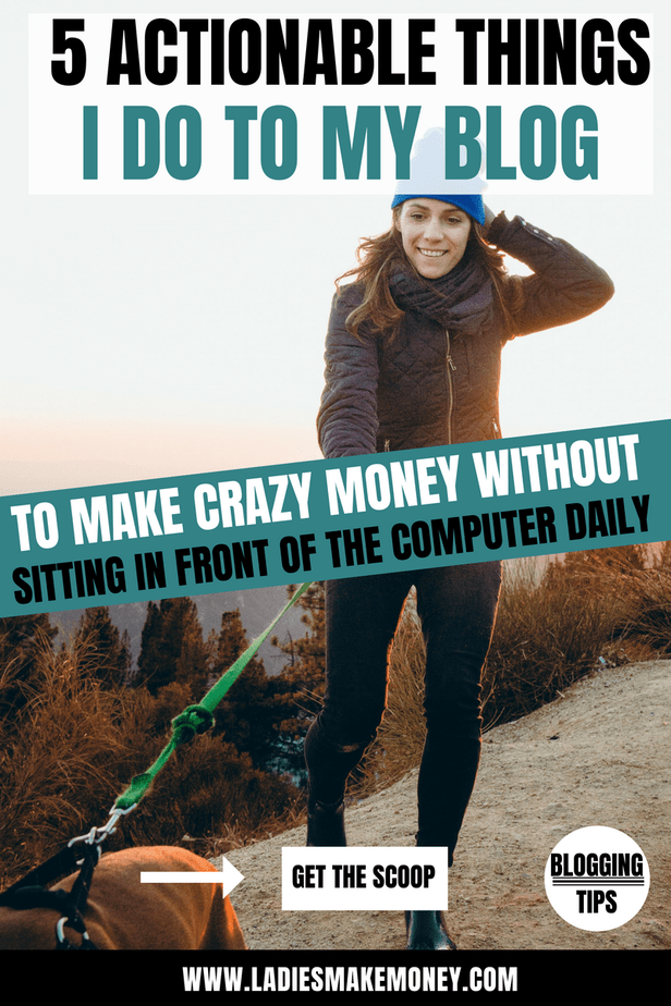 The steps and strategies I use to make a full-time income from home using my blog. By using Affiliate Marketing and a few strategies I have been able to build a successful online business. Learn how I make money online blogging with 5 easy steps. Get paid to blog today #ladiesmakemoneyonline #blogger #solopreneur #makemoneyonline #bloggingtips #Entrepreneur