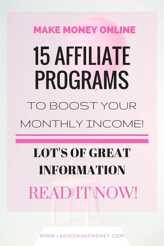15 Affiliate Programs to boost your monthly income