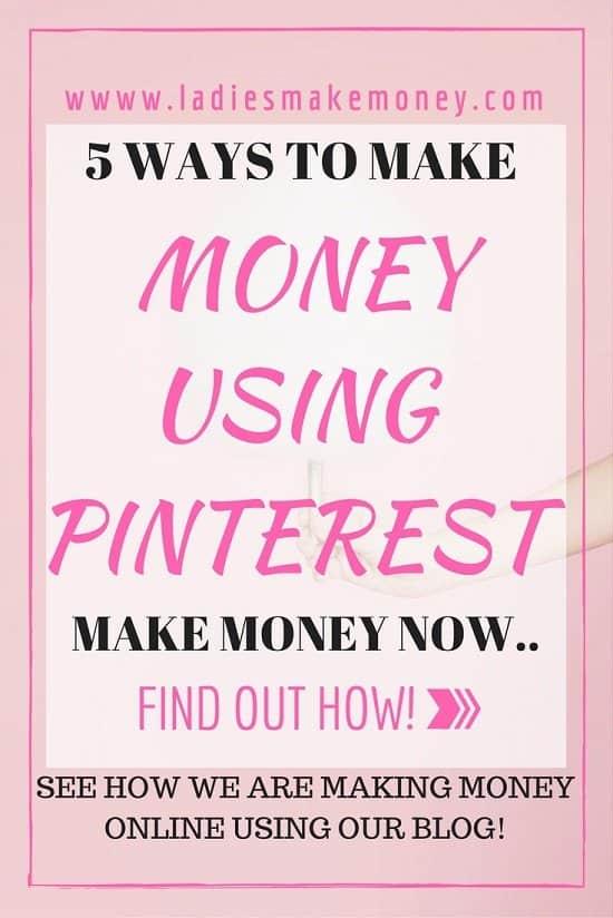 5 Ways to make money using Pinterest the easy way.