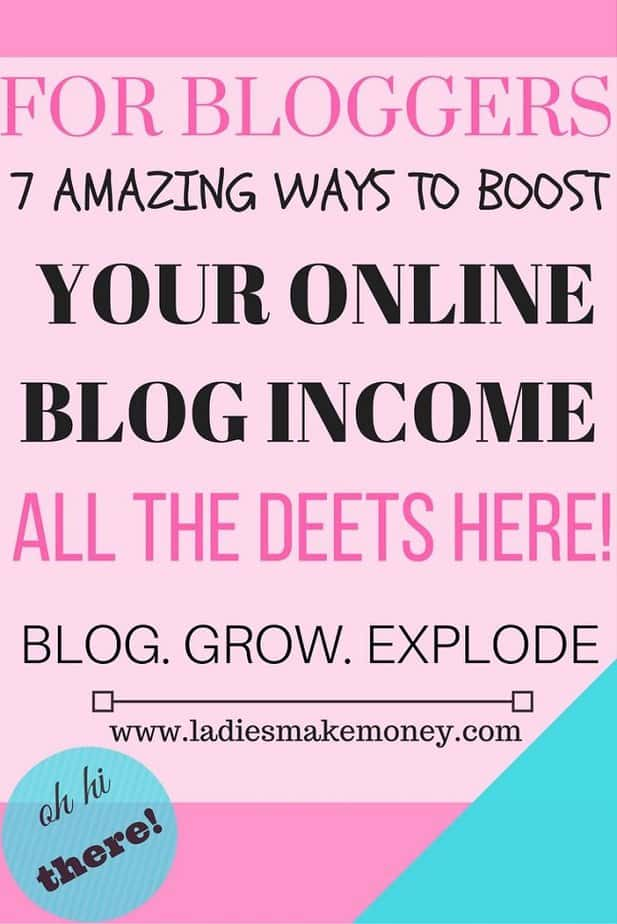 7 Ways to Boost your Online blog INCOME and make Money