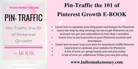 Pin traffic ebook- 101 of boosting pinterest blog traffic