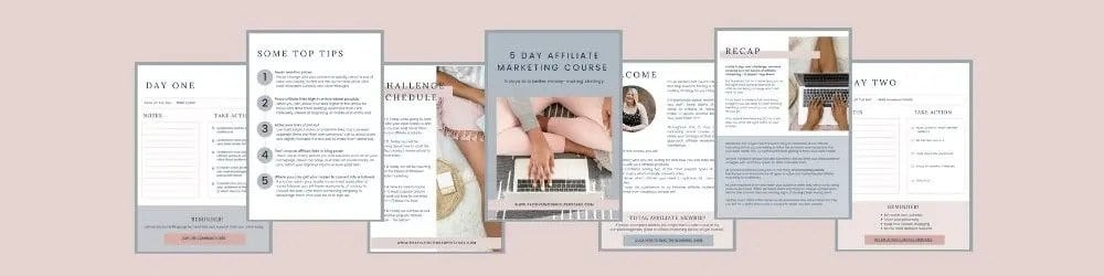 5 day affiliate marketing course for bloggers