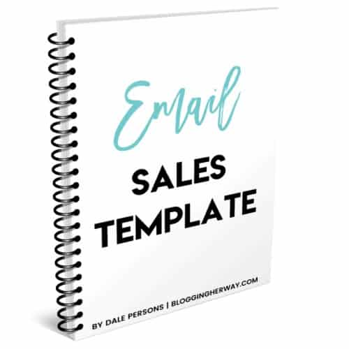 Make money with emails using this simple sales template.