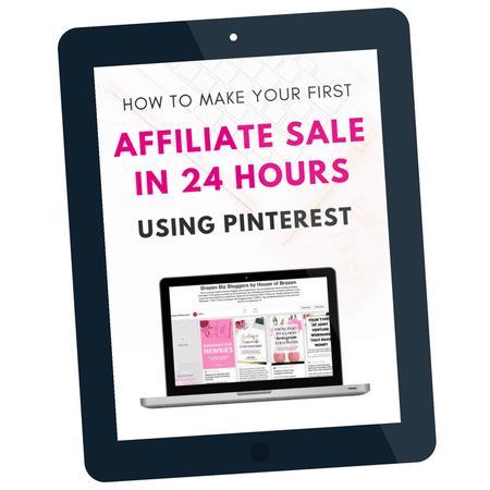 How to make your first affiliate sale in 24 hours using Pinterest. Make money using Pinterest. How to make money on Pinterest.