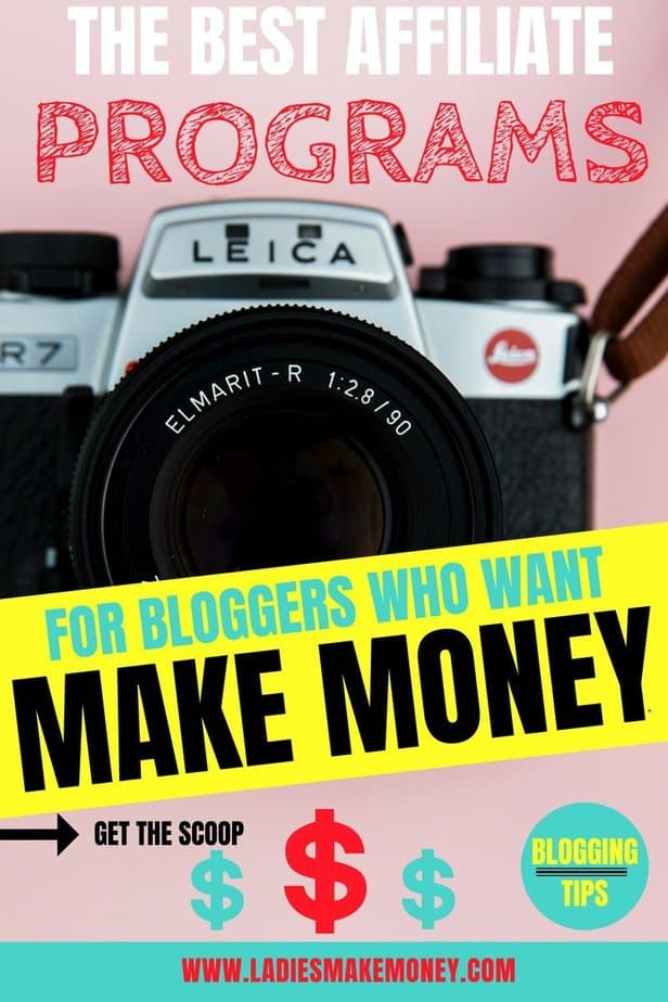 Here's a list of over 5 of the best affiliate programs for bloggers to join. Use these affiliate programs to make money with your blog. The blogging tips can be put for the beginner bloggers. Affiliate marketing for beginners. #bloggingtips #makemoneyonline #affiliatemarketing.