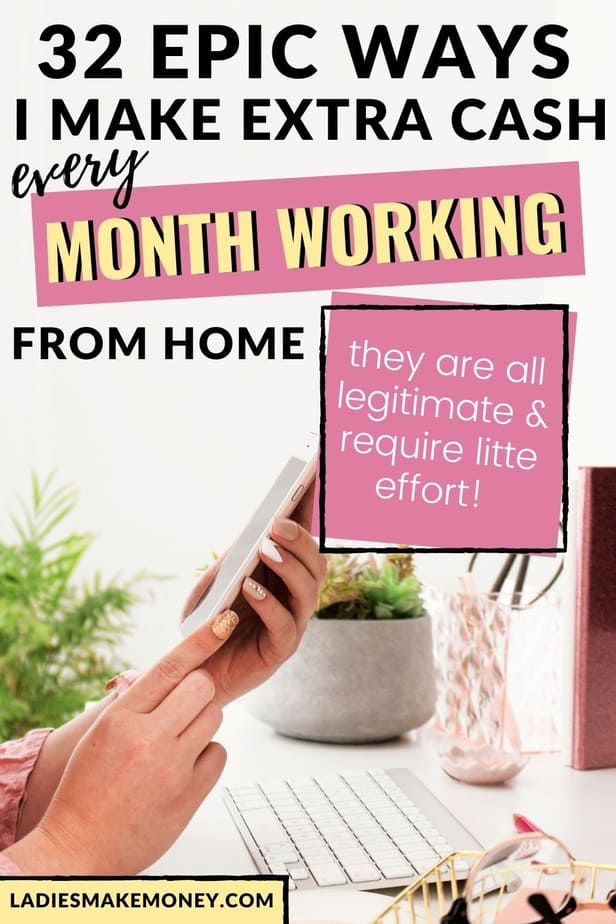 If you are looking for legitimate ways to make money from home, here are 32 legitimate ways to make money at home that you can start today! If you are looking for ways to make extra cash from home, you will need to click here - Make Extra Money From Home-Make Money From Home Tips #workathome #makingmoneyfromhome