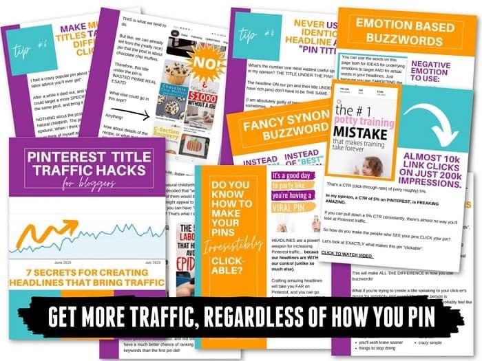Pinterest Title hacks designed to increase your blog traffic using Pinterest! #pinteresthacks