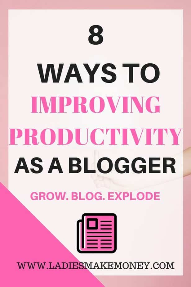 Way to improve productivity as a blogger