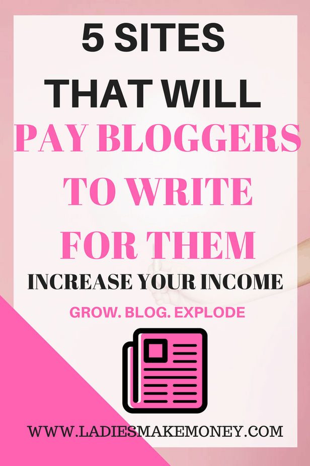 5 sites that will pay bloggers to write and blog for them.