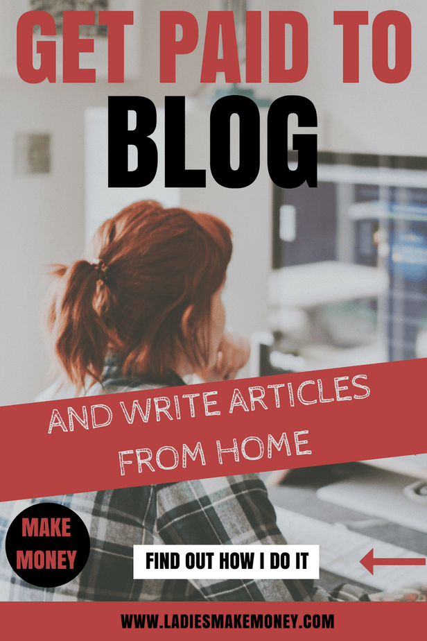 Get Paid to blog and write articles from home. If you are looking for a fast way to make money working from home, we have a list of 5 sites that will pay bloggers to write for them. Become a freelancer and work with companies that will pay you for your blog. It is the easiest way to make money blogging while working from home. #sponsoredblogs #workfromhome #makemoneyonline #makemoneyblogging