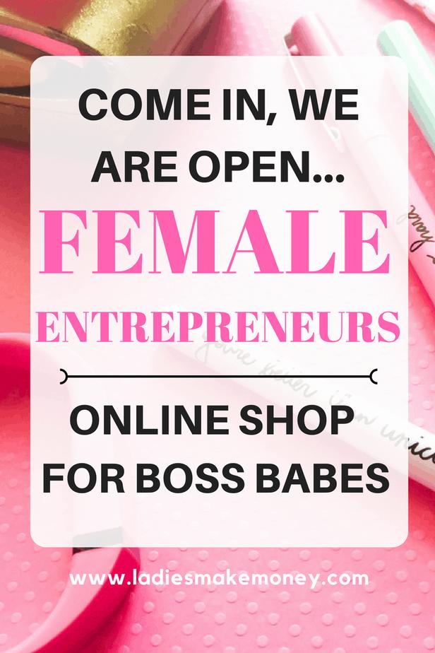 Online shop for female entrepreneurs