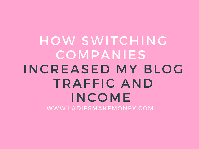 How switching companies increased my blog traffic