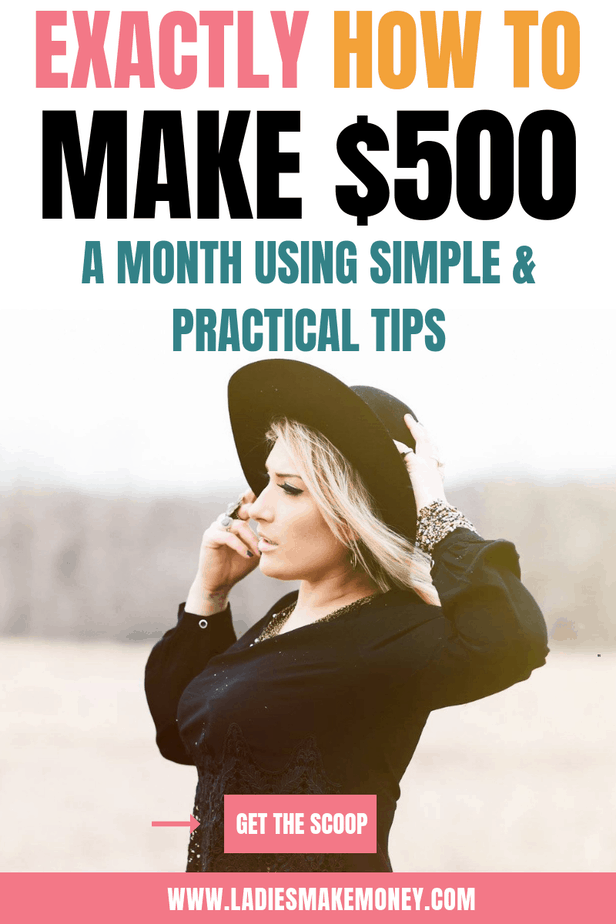 Have you been looking for ways to make $500 a month online to help financially? I put a list of creative ways to make extra money from home that I do daily. These money making ideas are perfect for those that want to work from home, stay at home moms or female entrepreneurs. Enjoy list of ways to make money, simple online side hustle idea #makemoneyonline