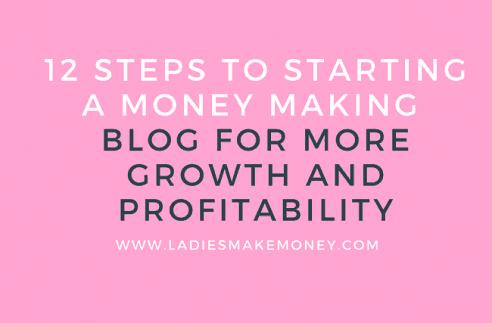Starting a money making blog