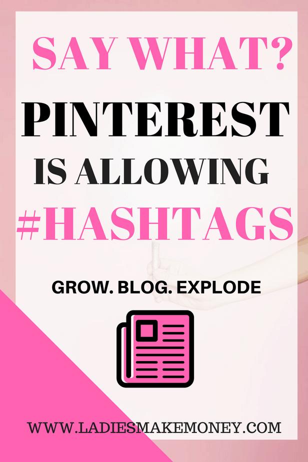 Using hashtags on Pinterest