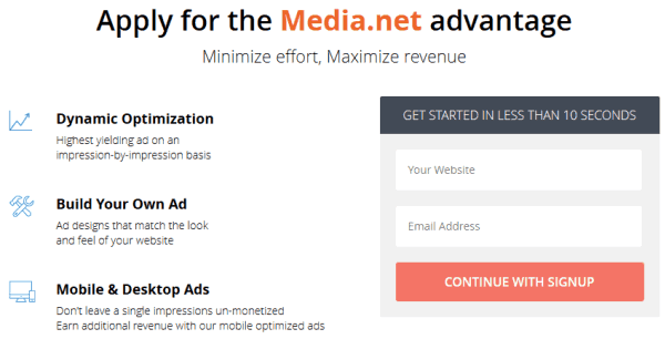 Media.net ads, best ads for new bloggers