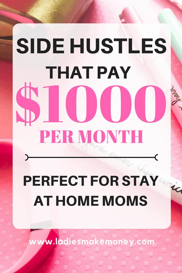 Side hustles that make $1000 per month