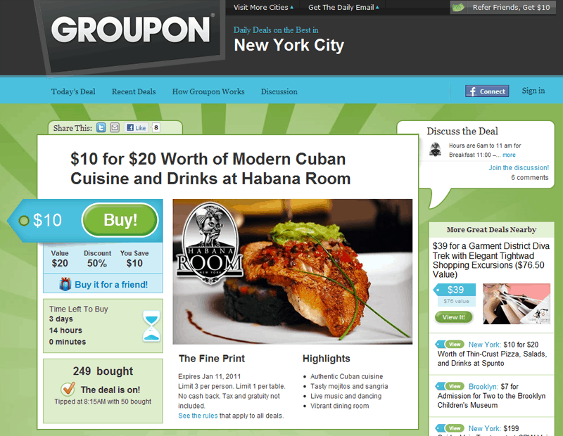 find deals on groupon