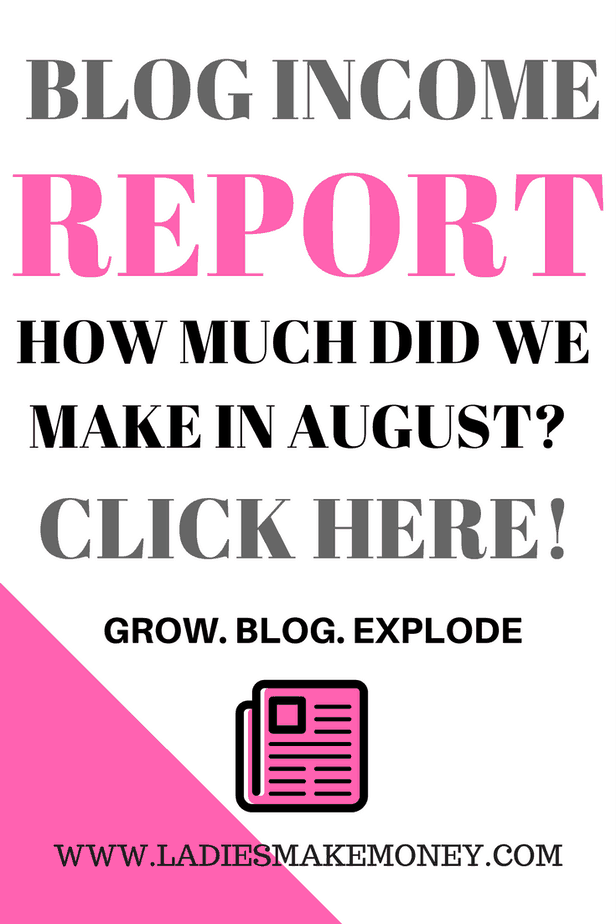 Blog income report, August 2017 income report