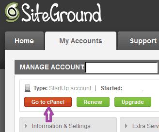 Installing WordPress on site ground