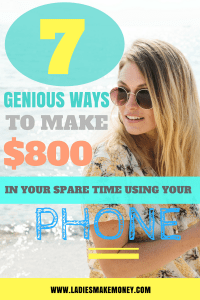 Money tips to help make extra cash using your phone. Ideas to make extra money fast you can do starting today to make extra money! Ways to make money online for stay at home moms. Making extra money working from home. How to make money using your phone. Make extra money fast to pay your off your debt. side hustle, side hustles, make extra money, ways to make extra money, work from home. Ways to make money online for stay at home moms. #makemoneyonline