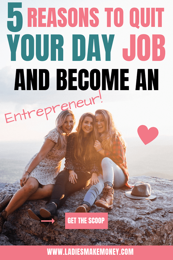 Do you want to escape the 9-5? Here are a few tips to quit your day job and start a successful side business! Learn how to earn passive income and make money online as an entrepreneur! #workfromhome #9-5 #quityourjob #sidejobs #workfromhome