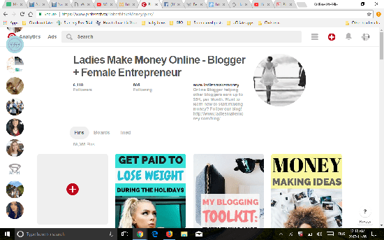 Ladies Make Money Online Pinterest