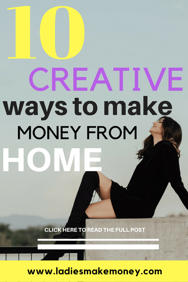10 Creative ways to make money from home as an Entrepreneur. Work from home I How to make money working from home I Jobs you can do working from home I Different ways to earn money working from home I How to make Money from home fast I Great sides hustles you can try from home. #workfromhome #workfromhomeideas #workfromhomemom #makemoneyonline