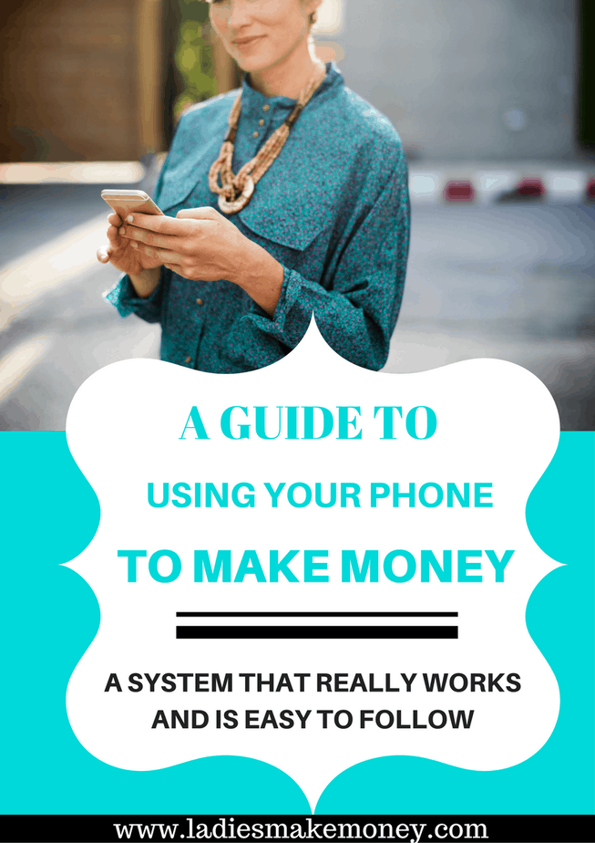 Make money from home using your phone