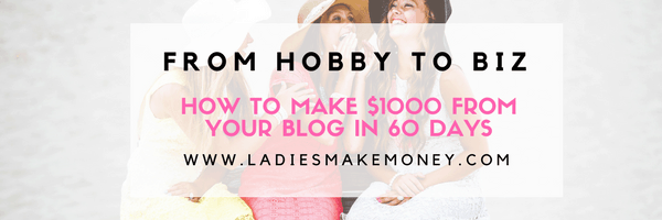 Making $1000 per month- From blog to biz