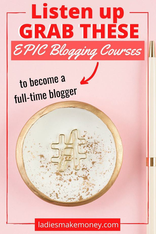 If you are looking to become a successful blogger, I recommend taking these blogging courses today. Here is a list of the best blogging courses bloggers should consider taking if they want to blog for money! Click here to see a list of blogging courses I highly recommend #bloggingcourses #bloggingtips #coursesforbloggers
