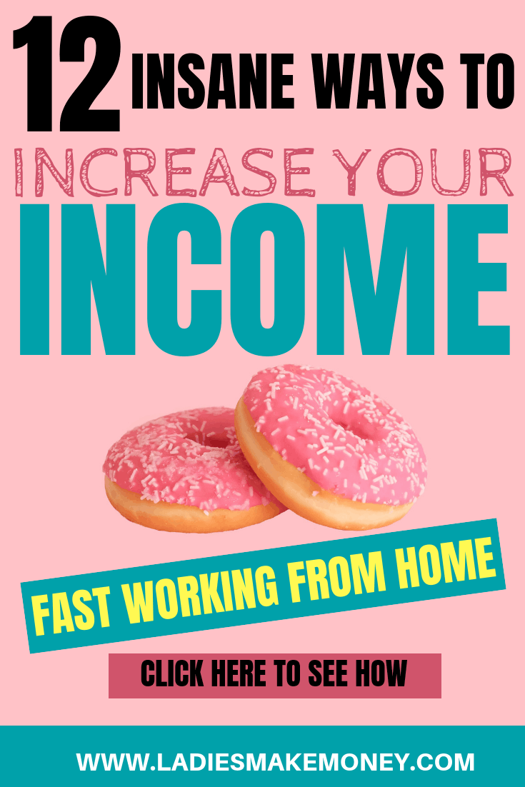 Here are a few extra income ideas that you can try from home. How to make money online to supplement your income. They are a few passive income ideas you can try to earn money online. Make quick money working from home today #makemoneyonline #ladiesmakemoney