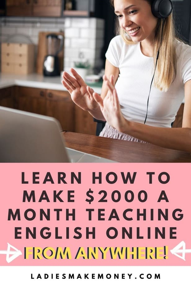 How To Make Money Teaching English Online From Anywhere! Online school has become very popular so if you are looking to make $2000 a month teaching English online, click here. People are paying for distance learning so join in. Want to earn a solid income from home with a flexible schedule? Start teaching English as a second language abroad online from anywhere, anytime.