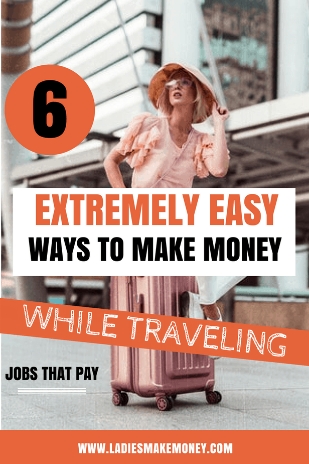 Looking for Ways to make money while traveling? Want to make MONEY while traveling? Check out these awesome ideas to earn an income while traveling | Professional Travel Blogger | Travel job ideas. The best travel jobs for travel bloggers to make extra money online. Here are tips to make a living while traveling. Get paid to travel. Make money online while traveling. #travelblogger #makemoneyonline #seetheworld #Travelhacks