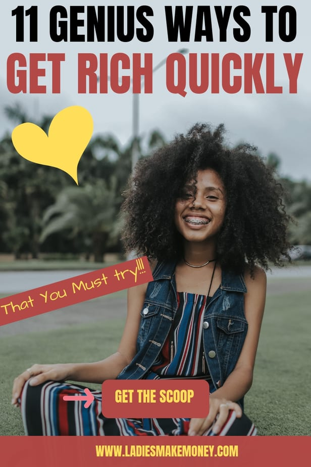 How to get rich quickly! Here are 11 amazing ideas you can use to get rich quickly from home. Try them out and let us know #moneytips #moneymanagement #getrich