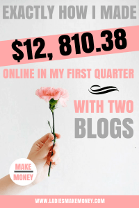 Learn how Im able to make money blogging, and how you can also make money online. blog income report how to make money blogging. How to make money with a blog using Affiliate Marketing, Sponsored blog posts, Ad revenue and creating courses to sell to your readers. How to make money online with a blog. #blogincome #incomereport #makemoneyonline