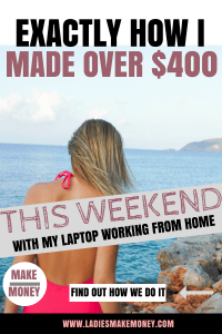 Find exactly how to make money online fast while working from home. If you are looking for ideas to make extra money over the summer, you might want to read this. Make extra money on the side using these stay-at-home side jobs. We have amazing tips for making money online if you are a stay at home mom. Use this side job to make money online fast. #makemoneyonline #workfromhome