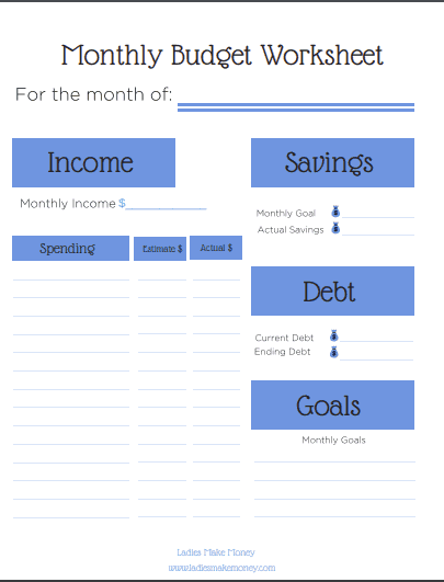 Free Pintable budget template to help manage your debt. Pay of your debt by budgeting monthly and saving money. Use a budget template to save money every month. Frugal Living Ideas | Monthly Budget Printable Free | Free Printable Monthly Budget Planner | Budget Worksheet | Budget Binder