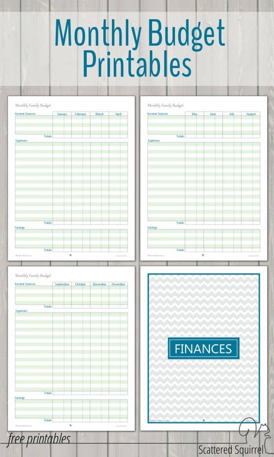 monthly family budget printable free printable budget template to help manage your debt pay